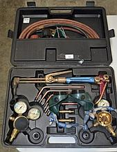 Oxy acetylene welding kit in fitted case
