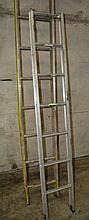 2 x various aluminium ladders 1 by Bailey