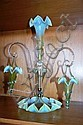 A Victorian epergne with central trumpet vase & 3