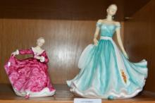 2 Royal Doulton figurines, Kirsty HN3213 and 'January - Carnation', from the English Ladies series
