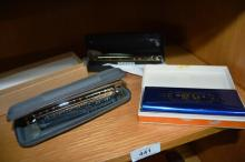3 as new harmonicas, all boxed, incl. 2 x by Hering 'Professional' model 48 Chromatic and 1 by Brelli
