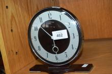 Vintage Smith's art deco 8 day clock mechanical movement, bakelite cased with convex glass front, 17cm T
