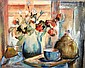 Desiderius Orban, mixed media, still life, signed,