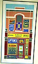 John Pratt, linoprint, general store, 65 of