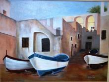 Elizabeth Clauzel, 'Village Fishing Boats',