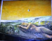 Artist unknown, 'Nude Reclining Dream Scene',