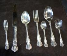 Rodd silver plate cutlery set, 'Camille', full