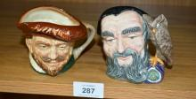 2 small Royal Doulton character jugs, 'Francis