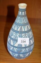 Studio pottery vase, initialled to base & dated