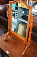Vintage timber toilet mirror on stand and a