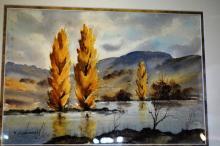 Peter Constantellis, watercolour, 'Autumnal