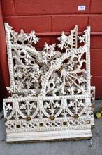 4 pieces of original cast iron Sydney lace