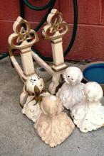 4 original Victorian cast iron claw ball bath