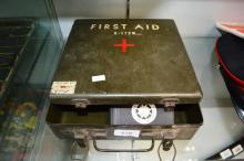 Vintage American military first aid kit,