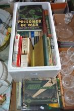 Lrg qty of books, mostly military related incl.