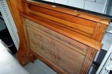 An Irish pine antique single sleigh bed