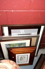 7 various framed artworks incl. Winnie The Pooh,