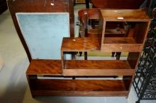 Timber stepped open faced bookcase