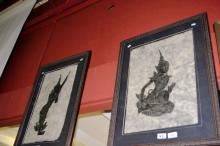 A pair of Balinese dancer artworks on hand made