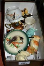Box of kookaburra related ceramics incl.