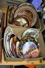 2 boxes: plates, platters, Coalport, d'Arcy Doyle,