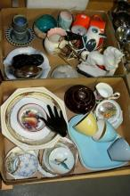 2 boxes: ceramics incl. retro items, Japanese
