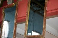 Pair of wall mirrors, probably originally hinged
