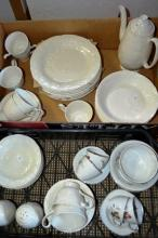 2 boxes of dinner ware etc incl. near