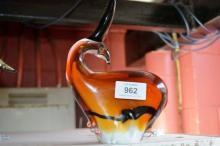 Stylised art glass model of an antelope, 19.5cm H