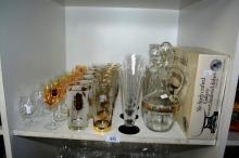 Shelf: glassware to incl. set of 6, tall French