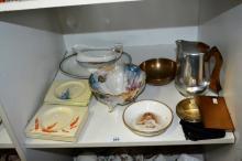 Shelf: qty of 10 square Biarritz side plates,