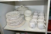 Collection of Portugese leaf pattern dinner ware,