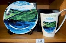 A mug & a plate, lim/ed by Ewan McGregor, made
