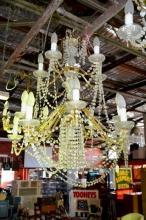 Vintage ornate 15 branch, 2 tier chandelier
