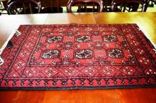 Hand woven pure wool Afghan Turkmen rug,