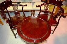 Oriental 3 piece set incl. 2 corner chairs and