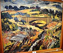 Alister Monro, oil on board, Australian creek