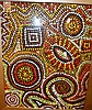 Aboriginal dot painting on canvas, unsigned, 49 x