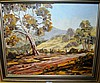 Oil on board, Australian rural landscape,