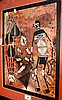 Artist unknown, Aboriginal painting, ochres on