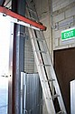 Two aluminium ladders, a 5 foot step ladder and an