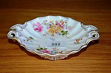 Small Royal Crown Derby Posies twin handled dish