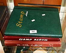 3 large stamp albums containing good collection of
