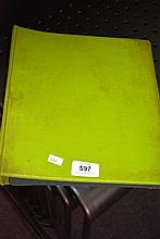 Lime green folder containing 5 album pages