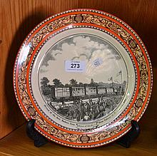 Antique Adams plate 'Peeps of the past',