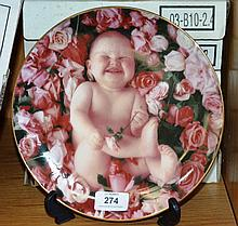 Set of 6 Anne Geddes plates of children & flowers,