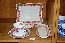 6 pieces of Royal Doulton 'Roses' pattern, to