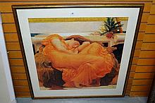 Frederick Lord Leighton print, 'Flaming June'