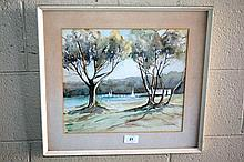 N Armstrong, watercolour, 'Shadow patterns,