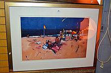 Michael White, hand signed lim/ed print Beach